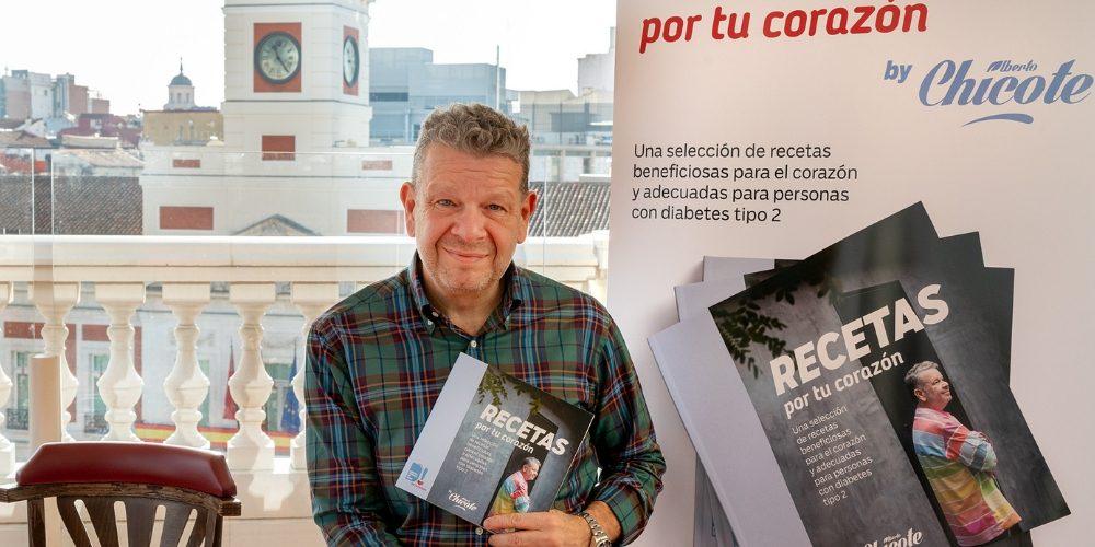"""""""Recetas por tu corazón""""  el primer ebook de Chicote con recetas saludables para personas con diabetes"""